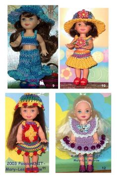 Free Crochet Pattern - Kelly Doll Clothes by popxena - Picasa Web Albums