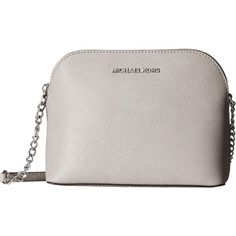 cfb2c84f0462 MICHAEL Michael Kors Cindy Large Dome Crossbody (Pearl Grey) Cross... (