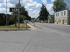 In Exeter ON, Canada across from the LCBO was my first apartment in 1977. (to the right of pic)