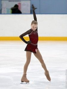 Elena Radionova - - Red Figure Skating / Ice Skating dress inspiration for Sk8 Gr8 Designs.