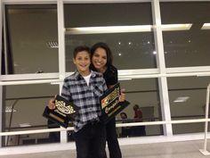Melhor piloto de kart 2015 em duas categorias - Tribuna autódromo de Interlagos Mar/2016 / com a tia Luciana