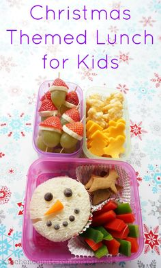 How fun is this Christmas themed lunch for kids?! With a few simple ingredients, great reusable containers and a little imagination you can create a fabulous, festive lunch for kids. Christmas recipe. | Christmas Food For Kids | Lunch | Bento | Christmas Bento | Food For Kids |