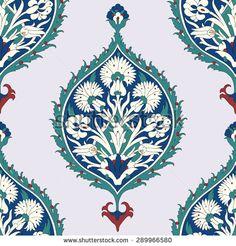 Традиционный арабский орнамент бесшовные шаблон для вашего дизайна.  Вектор - Векторный