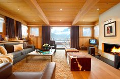 Luxurious living space of Chalet Emma Dream Vacation: French Alps Chalet Emma For A Luxurious Cozy Winter