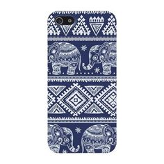 Amazon.com: Coromose Fashion Blue Elephant Pattern Hard Case for iPhone 5 5G 5S: Cell Phones & Accessories