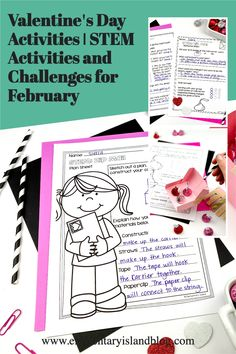Keep first, second, third, & fourth graders engaged & learning with this Valentine's Day Activities & February STEM Engineering Challenges resource. Included in this resource are four exciting STEM challenges that include an outline, a teacher brief listing all of the needed items & the activity goal, an anchor chart, design page, recording page, & a reflection page to help follow student thinking. 1st, 2nd, 3rd, & 4th grade students will love these exciting STEM challenges. #STEM #ValentinesDay Valentines Day Activities, Hands On Activities, Stem Activities, Educational Activities, Engineering Challenges, Stem Challenges, Elementary Education Activities, Island Holidays, Science Boards