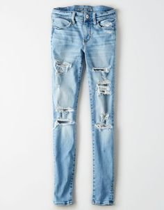 Shop at American Eagle for Jeggings that look as good as they feel. Browse our jeggings in different rises (from low to highest), in different washes and stretch levels. High Waist Jeggings, Ripped Jeggings, Ripped Skinny Jeans, Ae Jeans, Denim Pants, Black Jeans, Trendy Swimwear, Mens Outfitters, Feminine Fashion