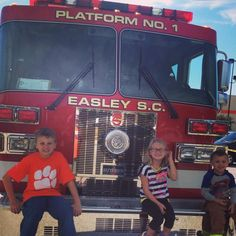 Kid's in Easley enjoyed a fun, and educational fire safety event at The Home Depot Fire Safety, Fire Engine, Home Depot, Christmas Sweaters, Kid, Times, Education, Fashion, Child