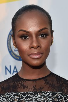 Tika Sumpter Photos - Actress Tika Sumpter attends the NAACP Image Awards presented by TV One at Pasadena Civic Auditorium on February 2016 in Pasadena, California. - NAACP Image Awards Presented By TV One - Red Carpet Beautiful Dark Skinned Women, Beautiful Black Women, Beautiful Ladies, Tika Sumpter, Divas, Minimalist Makeup, Dark Skin Girls, Flawless Beauty, Black Women