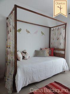 Cama Baldaquino: Realizada en madera de lapacho. http://laquintamuebles.com.ar/cama-baldaquino/