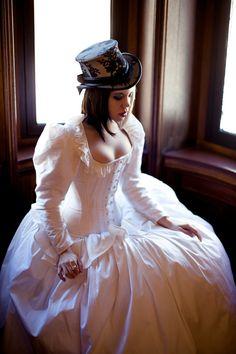 Steampunk Wedding Dress Corset Jacket Alternative by KMKDesignsllc, $1295.00