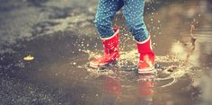 There's only so much playing in puddles you can do on a rainy day in Atlanta.