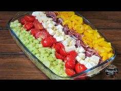 Sałatka w paski - YouTube Fruit Salad, Cobb Salad, Acai Bowl, Breakfast, Luty, Food, Essen, Acai Berry Bowl, Morning Coffee