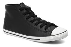 All Star Dainty Leather Mid W Converse (Noir) : livraison gratuite de vos Baskets All Star Dainty Leather Mid W Converse chez Sarenza