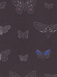 Wallpaper house - wallpaper is style Butterfly Species, Butterfly Wallpaper, Home Wallpaper, Textile Prints, Pattern Paper, Printing On Fabric, Butterflies, Pattern Design, Diy Home Decor