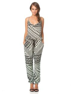 559ac5af298c NWT Gypsy 05 Minerva in Mint Tribal Print Rayon Voile Tapered Jumpsuit  Jumper S. Jumpers For WomenRompersFashion ...