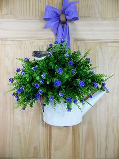 SPRING wreaths purple mini flowers summer by Celestialwreaths