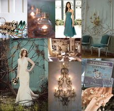 #Teal and #gold inspiration board