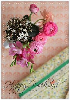 Happy Weekend card by cafe noHut, via Flickr