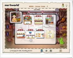Mathworld Division 5 (Lessons.e-learningforkids.org) Smart Board Activities, Learning Sites, Interactive Learning, 5th Grades, Arcade Games, Education, Maths, Kids, Halloween Games