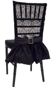 This stunning black lace chair sleeve start with a seductive Chantilly Lace bodice and then flares out into a flirtatious skirt Gothic Wedding Decorations, Black Betty, Office Chair Without Wheels, Chiavari Chairs, Barbie Party, Halloween Party Decor, Halloween 2020, Wedding Chairs, Slipcovers For Chairs