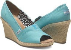 need these teal toms wedges