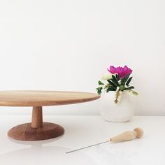 wooden cake stand | made from scratch