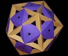 Origami Icosahedron and Icosidodecahedron