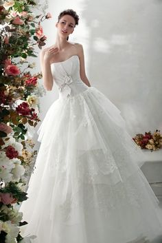 "Wedding ball gown from Papilio ""Flower cocktail"""