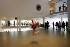 Chasing ventilator, installation by Olafur Eliasson in MoMA