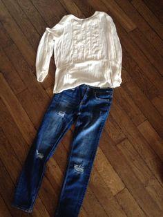 Blouse + jeans Zara