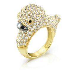 Bling Jewelry Gold Vermeil Pave Clear CZ Duck Cocktail Ring, http://www.amazon.com/dp/B00ISBUO72/ref=cm_sw_r_pi_awdm_hWAgtb1VHDDPS