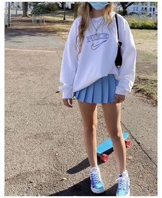 Cute Preppy Outfits, Cute Skirt Outfits, Indie Outfits, Teen Fashion Outfits, Retro Outfits, Girly Outfits, Preppy Style, Stylish Outfits, Sweater Outfits