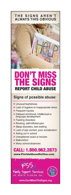 April is Child Abuse Prevention Month.   Here are some Signs of  Child Abuse