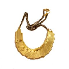 Origami Necklace in Gold by osnatharnoy on Etsy,