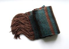 Extra Long brown blue choclate multi coloured rustic by Alvecote1, $120.00