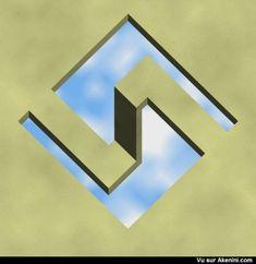Akenini.com - Effets optiques - Impossible - Optical illusion - Impossible object
