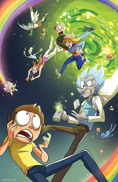 Revisited an old Rick and Morty art to get ready for FANIME 2017! Come visit me at booth 1015 this Memorial Day in San Jose~