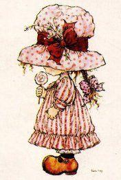 Vivien Kubbos's art of Sarah Kay Sarah Key, Holly Hobbie, Illustration Art Nouveau, Cute Illustration, Sara Key Imagenes, Image Deco, Illustrations Vintage, Creation Art, Black And White Pictures