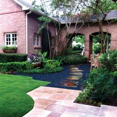 Coming across rock landscaping ideas backyard can be a bit hard but designing a rock garden is one of the most fun and creative forms of gardening there is. Landscape Timbers, Landscape Materials, House Landscape, Landscape Design, Garden Design, Black Rock Landscaping, Tropical Landscaping, Landscaping With Rocks, Landscaping Plants