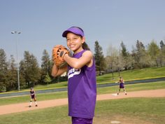 4 Fun Softball Games For Kids with links to coaching videos