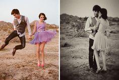 A Desert Engagement: LOVE her dress!