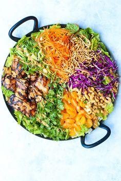 Lunch Recipes, Salad Recipes, Grill Recipes, Chicken Recipes, Cooking Recipes, Asian Chicken Salads, Teriyaki Chicken Salad, Asian Salads, Salad Chicken