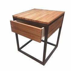 Resultado de imagen para mesa de luz hierro y madera Loft Industrial, Wood Tables, Chocolate, Bedroom, Furniture, Ideas, Home Decor, Mesas De Luz, Feminism