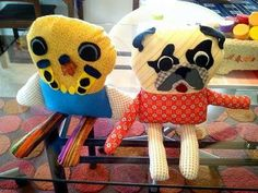 DIY -  FUN Fiber Art ~ Parakeet & Pug Dolls