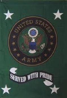 "NEW 30X42"" U.S ARMY SERVED WITH PRIDE POLE SLEEVE FLAG"