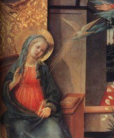 FILIPPO LIPPI (Fra) - Annunciazione Doria, dettaglio - tempera su tavola…