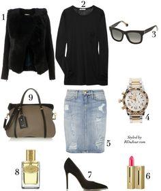RDuJour Outfit of the Day No 243 Alexander Wang T-Shirt Nixon Chronograph Watch Givenchy Pumps Nina Ricci Tote Bag Balenciaga Sunglasses