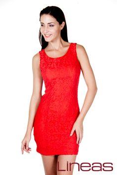 Vestido, Modelo 19718. Precio $210 MXN #Lineas #outfit #moda #tendencias #2014 #ropa #prendas #estilo #primavera #outfit #vestido