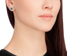 c7dc2a596 Begin Stud Pierced Earrings, Gray, Palladium Plating